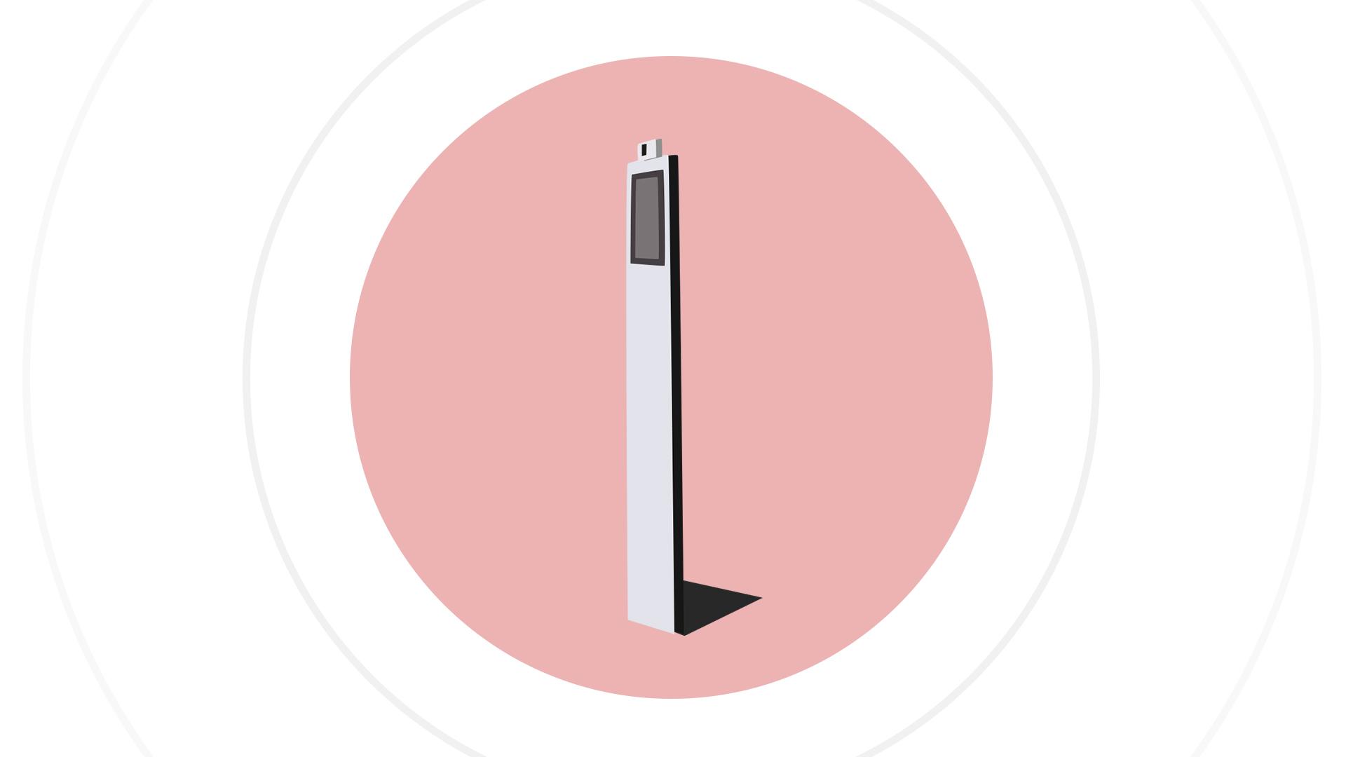 full body temperature camera for temperature testing. detect a high fever or normal body temperature
